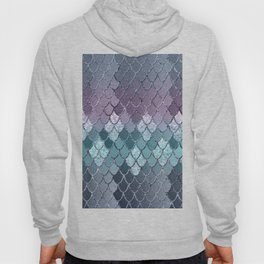 Mermaid Scales Navy Blue Teal Purple Glam #1 #shiny #decor #art #society6 Hoody