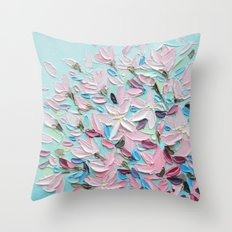 District  Blooms Throw Pillow