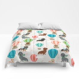 Dachshund hot air balloon dog cute design fabric doxie pillow decor phone case Comforters