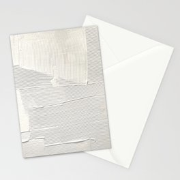 Relief [1]: an abstract, textured piece in white by Alyssa Hamilton Art Stationery Cards
