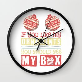 Breasts Sexy Christmas Rotten Tits Gift Wall Clock