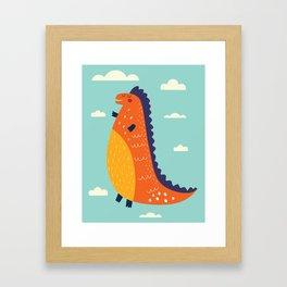 Funny Dinosaur Framed Art Print