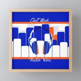 Chill Mode Framed Mini Art Print