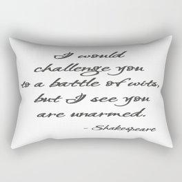 Battle of Wits Rectangular Pillow