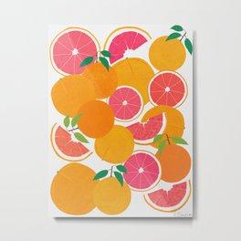 Grapefruit Harvest Metal Print