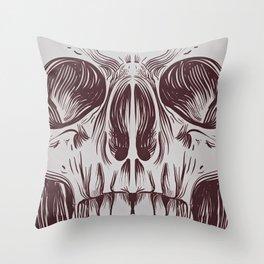 Front Skull Throw Pillow