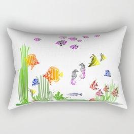 Aquarium colorful Fish Rectangular Pillow