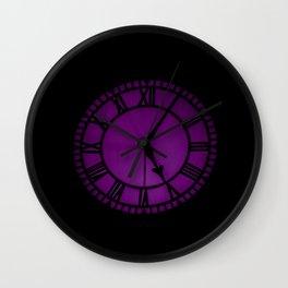 purple clock Wall Clock