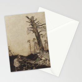 Alice's Adventures in Wonderland Arthur Rackham White Rabbit housemaid Mary Ann illustration Stationery Cards