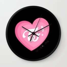 Twice what is love Wall Clock