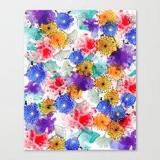 Printed Silk Exotic Garden Canvas Print