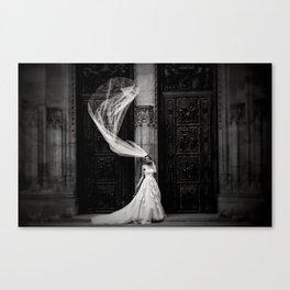 Black and White Bride Canvas Print