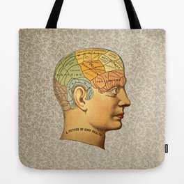 Phrenology | A Picture of Good Health circa 1881 Tote Bag