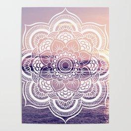 Water Mandala Amethyst & Mauve Poster