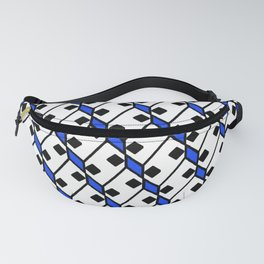 Diamond Domino Square Dice Eyes Dalmatian Pattern Fanny Pack