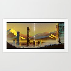 Distant land Art Print