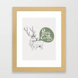 Christmas Carol Elk Framed Art Print