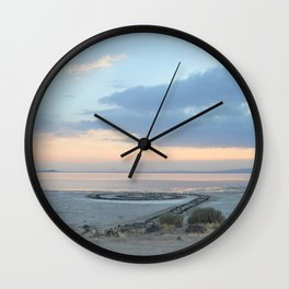 Sunset at Spiral Jetty Wall Clock