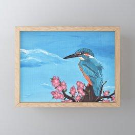 King Fisher Framed Mini Art Print
