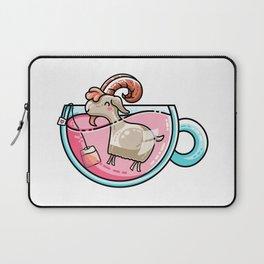 Kawaii Cute Goat-Tea Pun Laptop Sleeve
