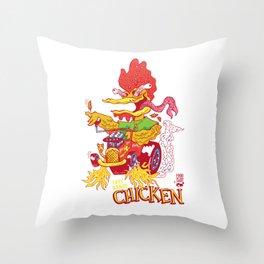 Free range chicken Throw Pillow