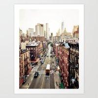 Art Prints featuring New York City by Orbon Alija