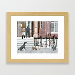 Family Out Framed Art Print