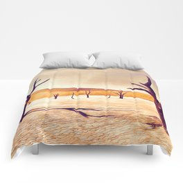 deadvlei desert trees acrls Comforters