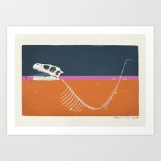 Burying The Line After A Long Walk Art Print