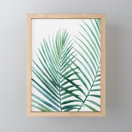 Emerald Palm Fronds Watercolor Framed Mini Art Print