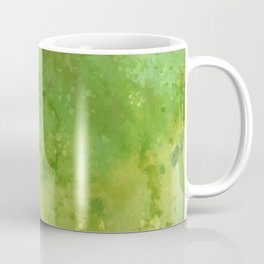 Watercolor lime green abstract hand painted pattern Coffee Mug
