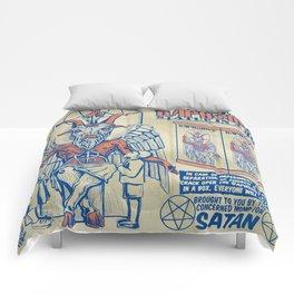 Baphomet Statue in a Box Comforters