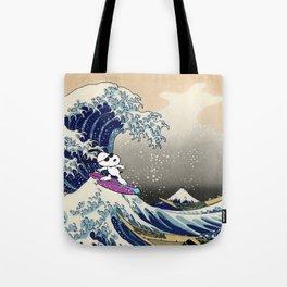 Snoopy and Hokusai Tote Bag
