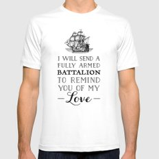 A Fully Armed Battalion Mens Fitted Tee MEDIUM White