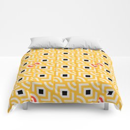 Round Pegs Square Pegs Yellow Comforters