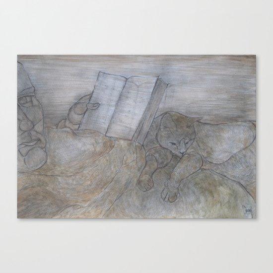 Reading book Canvas Print