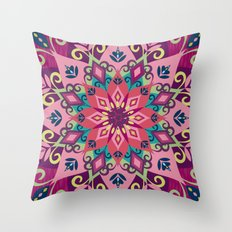 Mandala Bloom Throw Pillow