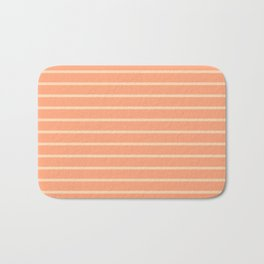 Peach Stripes Design Badematte