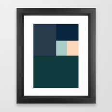 BLUE BOXES Framed Art Print