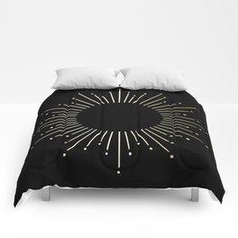 Mod Sunburst Gold 1 Comforters