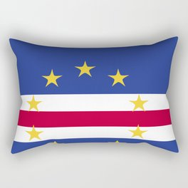 Cape Verde flag emblem Rectangular Pillow