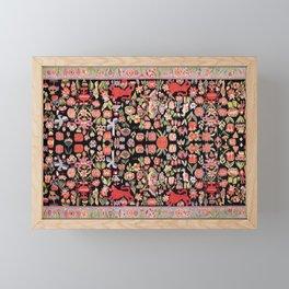 Täcke Antique Swedish Skåne Wedding Blanket Print Framed Mini Art Print