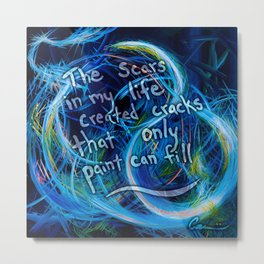 Inspirational Art Quotes From Painter Michael Carini Metal Print