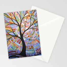 Abstract Art Landscape Original Painting ... Here Comes the Sun Stationery Cards