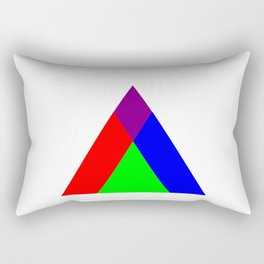 Triangle of Light and Colour Rectangular Pillow