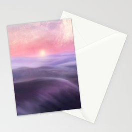 Minimal abstract landscape III Stationery Cards