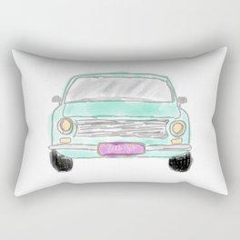 My new car  - digital watercolor car art Rectangular Pillow