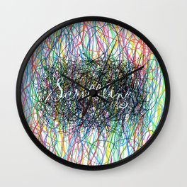 Scribbling Wall Clock