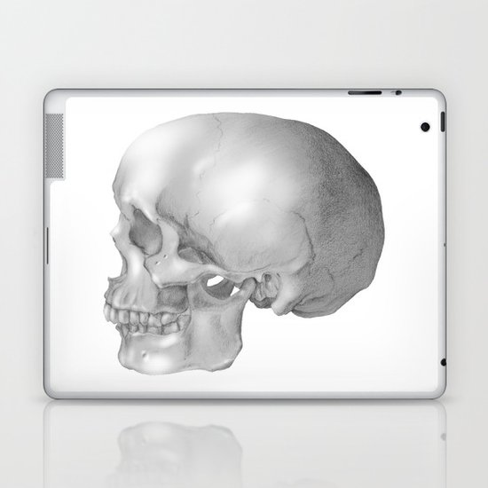 Human Skull Laptop & iPad Skin