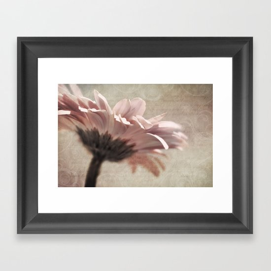 FLORAL POETRY Framed Art Print